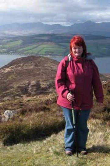 Image of Pauline at Holy Isle